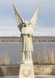 Ángel y río Misisipi Imagen de archivo