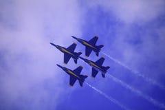 Ángeles azules en Kaneohe Airshow imagen de archivo