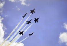 Ángeles azules en vuelo Fotografía de archivo libre de regalías