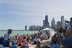 Ángeles azules sobre Chicago Imagenes de archivo