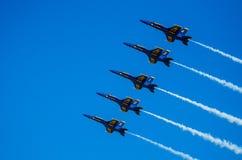 Ángeles de azules marinos de los E.E.U.U. Airshow Fotografía de archivo