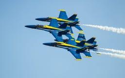 Ángeles de azules marinos de los E.E.U.U. Airshow Fotos de archivo