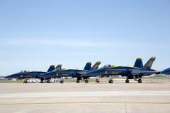 Ángeles de azules marinos de los E.E.U.U. en el salón aeronáutico Imagen de archivo
