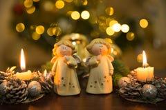 Ángeles de Christmass Fotos de archivo