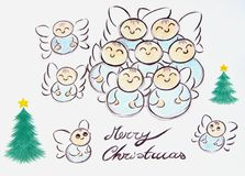 Ángeles de la Feliz Navidad libre illustration