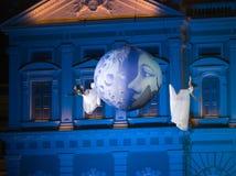 Ángeles de la luna Foto de archivo libre de regalías