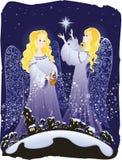 Ángeles de la Navidad Ilustración del Vector