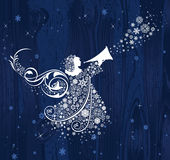 Ángeles de la Navidad. ilustración del vector