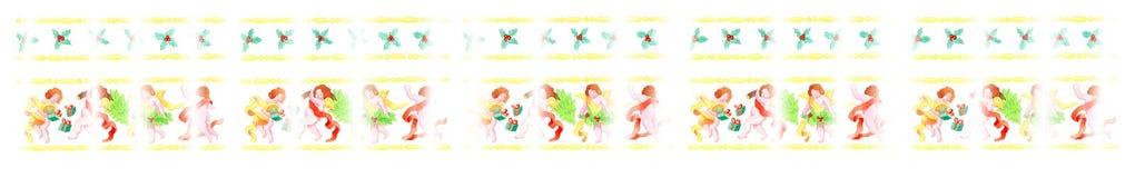 Ángeles de la Navidad stock de ilustración