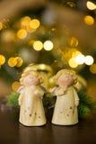 Ángeles de la Navidad Foto de archivo