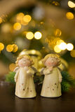 Ángeles de la Navidad Imágenes de archivo libres de regalías