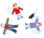 Ángeles de la nieve Fotos de archivo