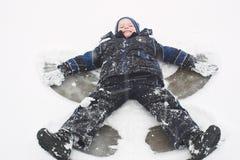 Ángeles de la nieve imagenes de archivo