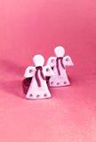 Ángeles de las tarjetas del día de San Valentín Imágenes de archivo libres de regalías