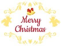 Ángeles del fondo de la Navidad del vector, la Navidad Belces stock de ilustración
