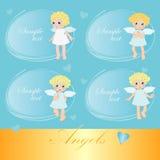 Ángeles dulces ilustración del vector
