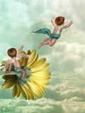 Ángeles en el cielo ilustración del vector