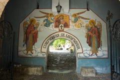 Ángeles en las puertas del monasterio Bachkovski Imagen de archivo libre de regalías