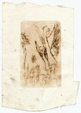Ángeles, gráfico de la vendimia Imagen de archivo