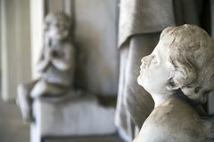 Ángeles religiosos santos del símbolo del cristianismo imagen de archivo