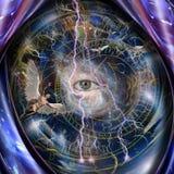 Ángeles y todo el ojo que ve ilustración del vector