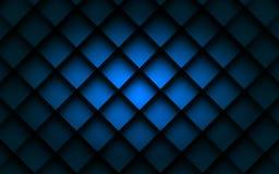 Ángulo cuadrado azul de la capa de la coincidencia de la caja del fondo con la sombra del espacio para el texto y el mensaje Fotos de archivo libres de regalías