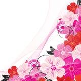 Ángulo de la flor ilustración del vector