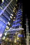 Ángulo de la noche de la entrada de Lloyds Fotos de archivo libres de regalías