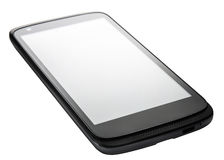 Ángulo de la perspectiva de Smartphone aislado Imagen de archivo