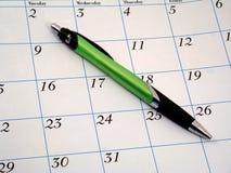 Ángulo del calendario Fotografía de archivo libre de regalías