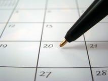 Ángulo del calendario Foto de archivo libre de regalías