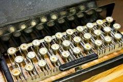 Ángulo del teclado de máquina de escribir Imágenes de archivo libres de regalías