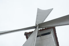 Ángulo inferior de la turbina de viento Foto de archivo