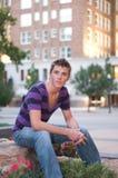 Ángulo joven del subordinado del modelo del varón adulto Imagen de archivo libre de regalías