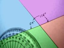 Ángulos de medición Imagen de archivo libre de regalías