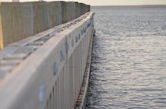 Ángulos del embarcadero de la bahía Imagen de archivo libre de regalías