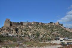 Árabe Alcazaba de Almeria em Andalucia, Espanha fotografia de stock royalty free