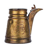 Árabe de cobre do turco isolado em um fundo branco Fotografia de Stock