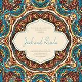 Árabe de la invitación Imagen de archivo libre de regalías