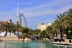 Árabe del al de Burj del hotel en Dubai Fotografía de archivo