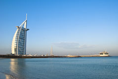 Árabe del Al de Burj, un centro turístico de siete estrellas imagen de archivo libre de regalías