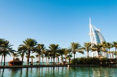 Árabe do Al de Burj do hotel Imagens de Stock Royalty Free