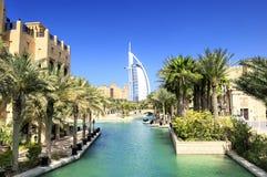 Árabe do Al de Burj e Madina Jumeirah fotos de stock royalty free