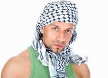 Árabe isolado no branco Fotografia de Stock Royalty Free