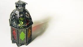 Árabe o Marruecos aligerado del estilo de la linterna fotografía de archivo