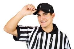 Árbitro: Árbitro amigável Tips Hat Imagem de Stock