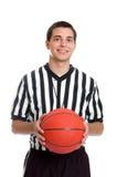 Árbitro adolescente del baloncesto Foto de archivo