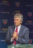 Árbitro Brian Earley del US Open en la ceremonia 2013 del drenaje del US Open i Imágenes de archivo libres de regalías