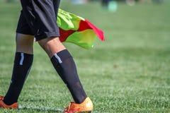 Árbitro del ayudante del fútbol Fotografía de archivo libre de regalías