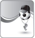 Árbitro del balón de fútbol con un silbido libre illustration
